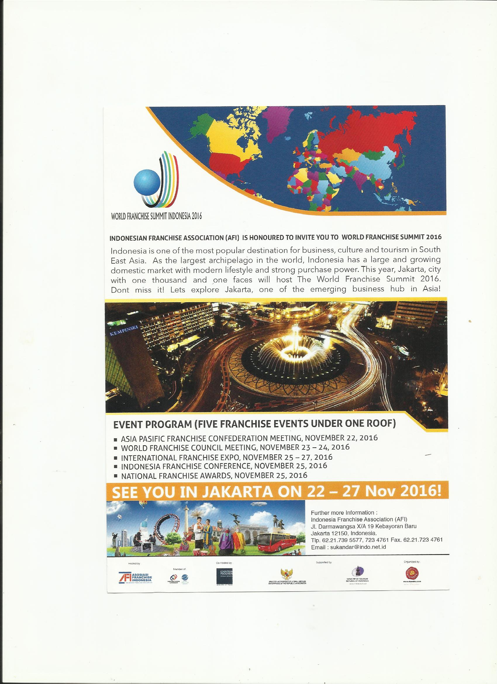 World Franchise Summit Indonesia 2016